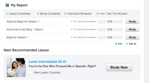 What learning program should you use on SpanishiPod101?
