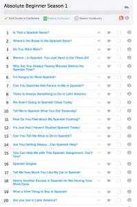 What learning program should you use on SpanishiPod101?